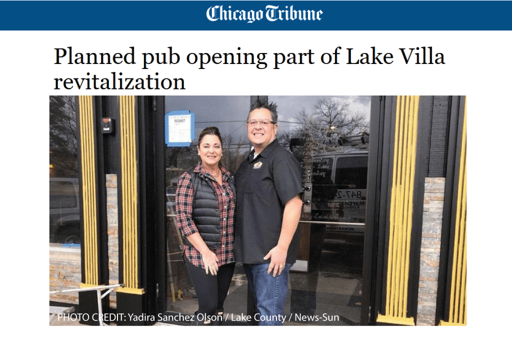 Lake Villa Revitalization – TIF/Business District paves way for new business openings in Downtown